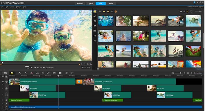 Phần mềm Corel VideoStudio Pro