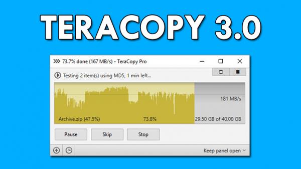 Tăng tốc độ copy với TeraCopy 3.0