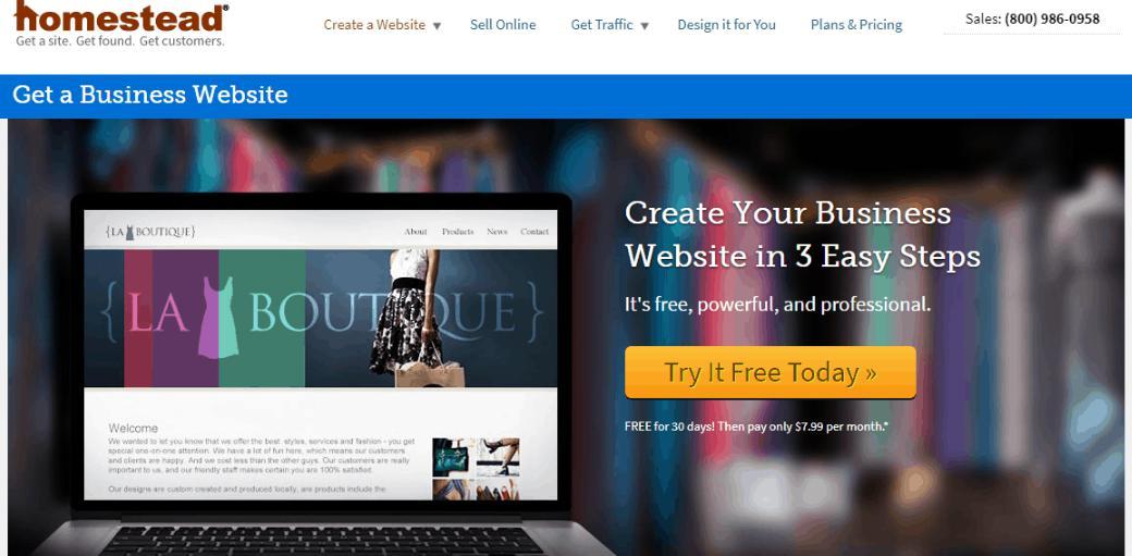 Phần mềm làm website Phần mềm thiết kế website Homestead